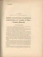 Station moustérienne et peintures préhistoriques du