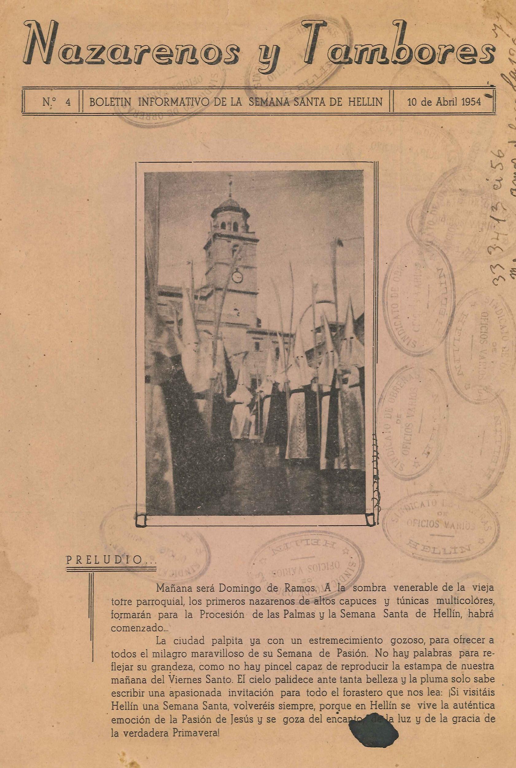 Nazarenos y Tambores - n4 -1954