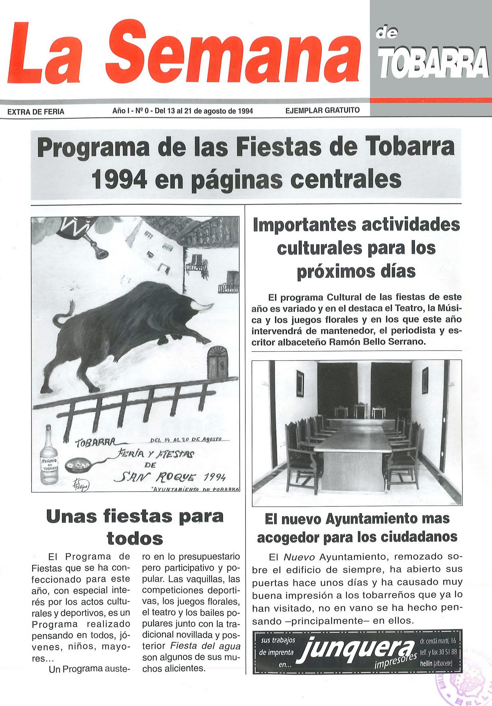 La Semana de Tobarra - nº 1