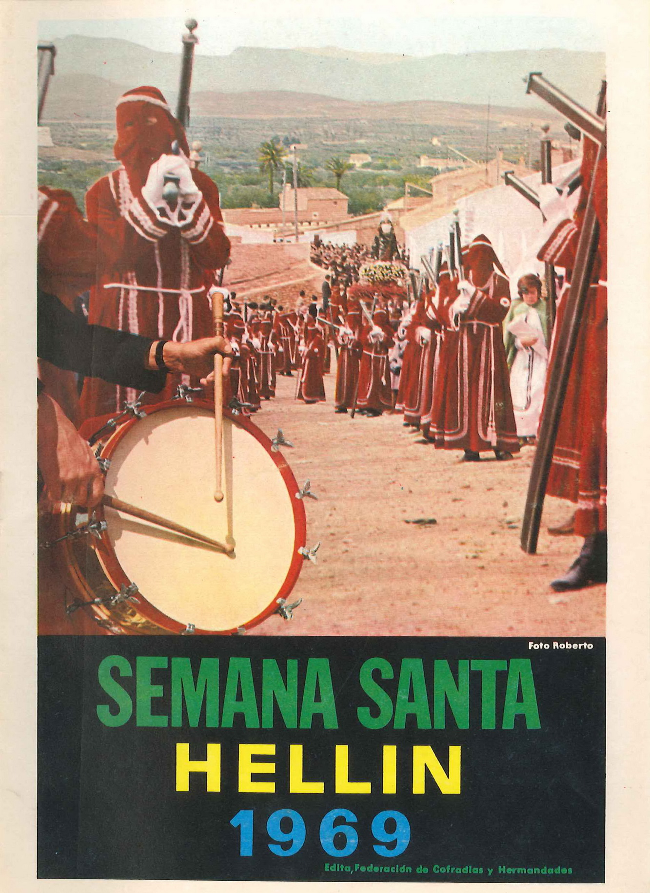 Programa de Actos de Semana Santa de Hellín - 1969