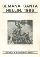 Programa de Actos de Semana Santa de Hellín - 1985