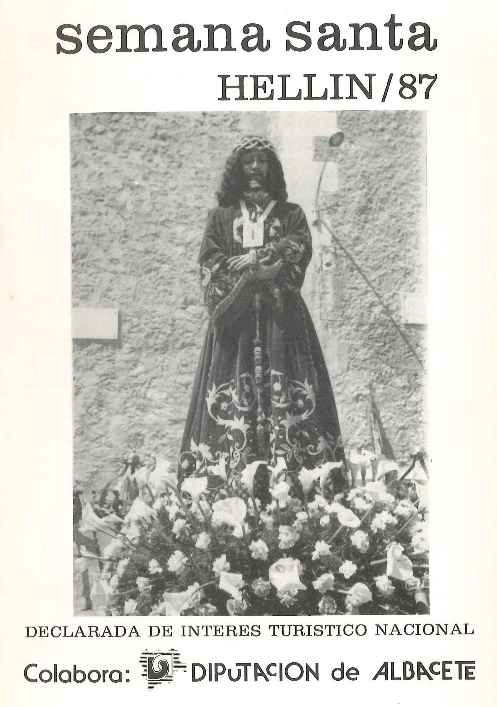 Programa de Actos de Semana Santa de Hellín - 1987