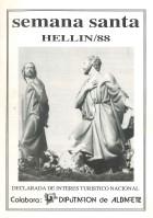 Programa de Actos de Semana Santa de Hellín - 1988