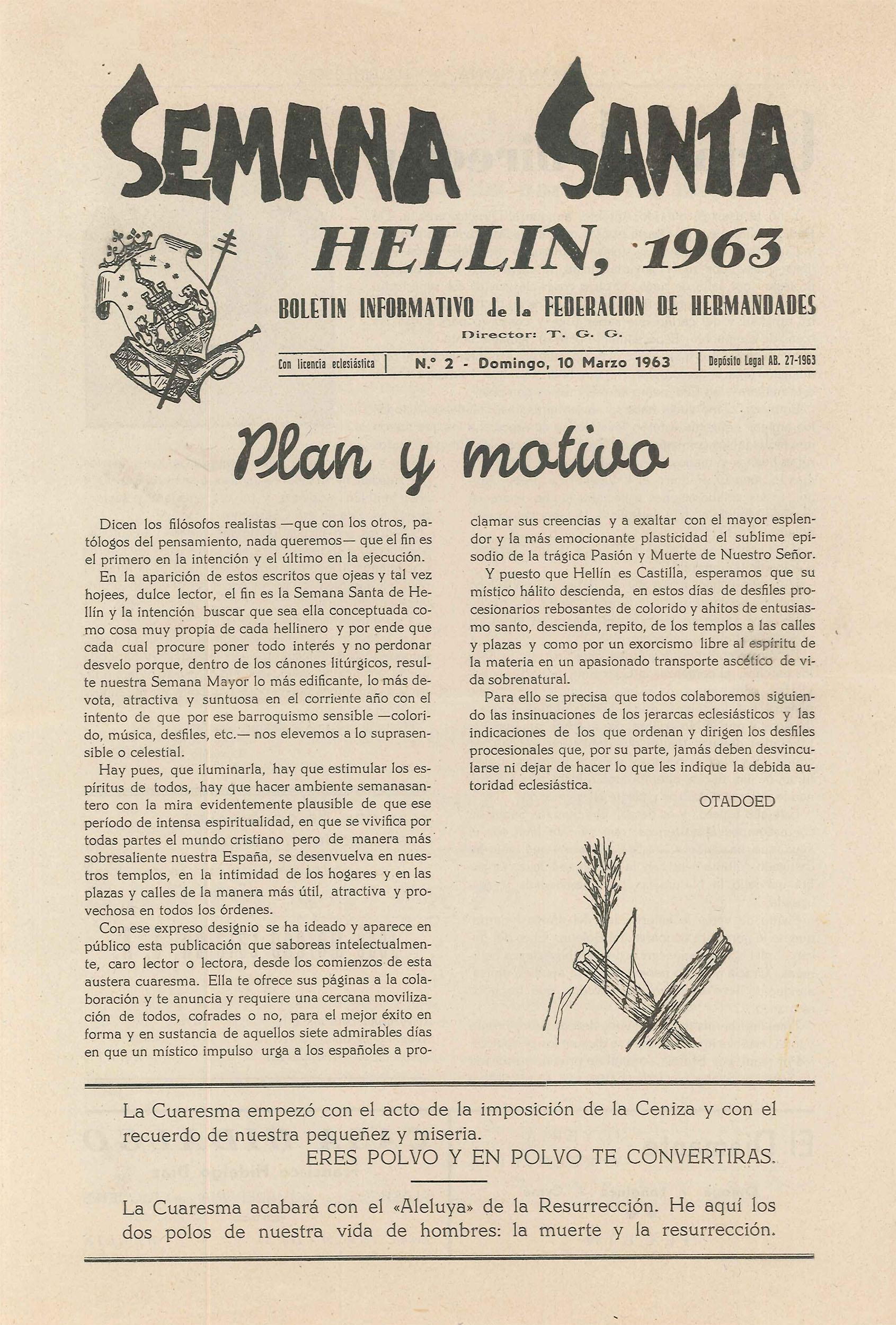 Boletín Informativo de la Federación de Hermandades - 1963 - n2