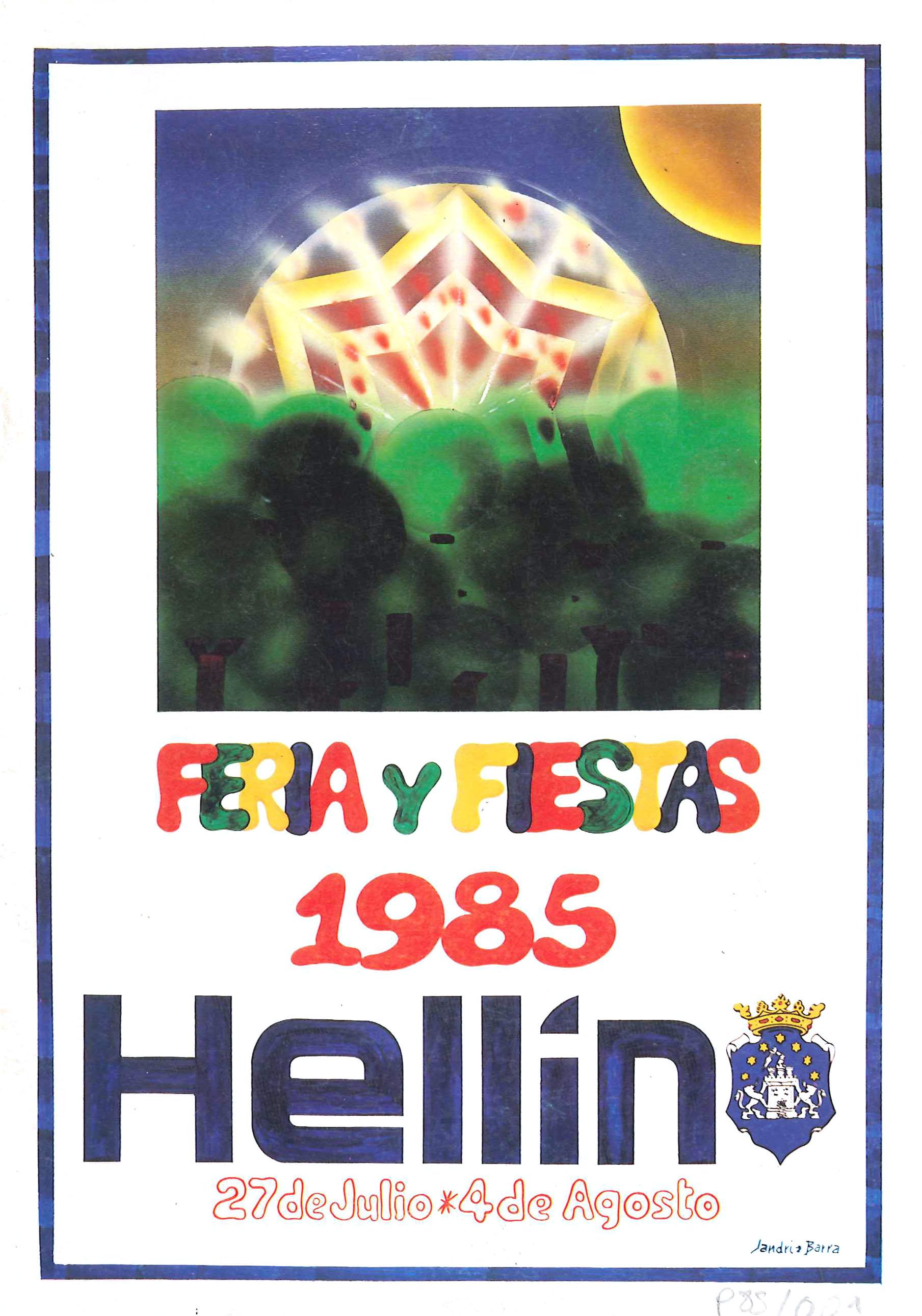 Programa de la Feria de Hellín - 1985