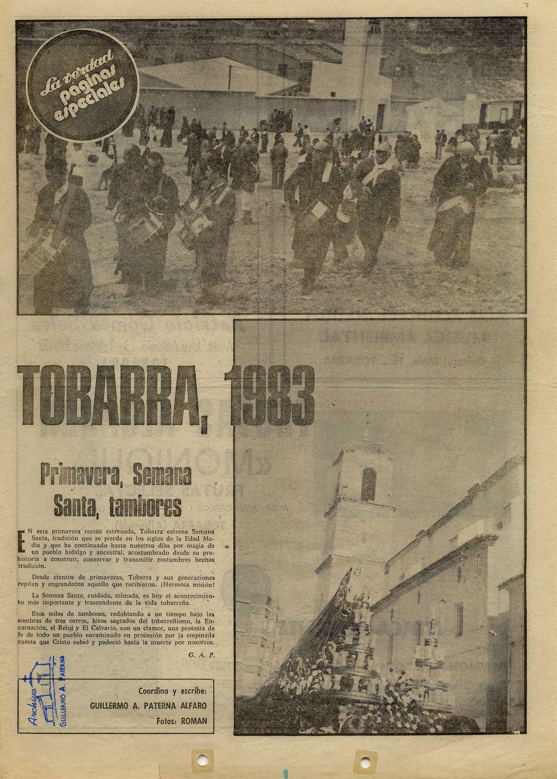 Semana Santa de Tobarra - 1983