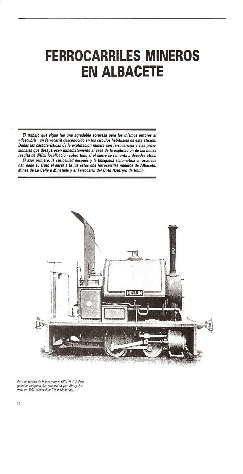 Ferrocarriles mineros en Albacete