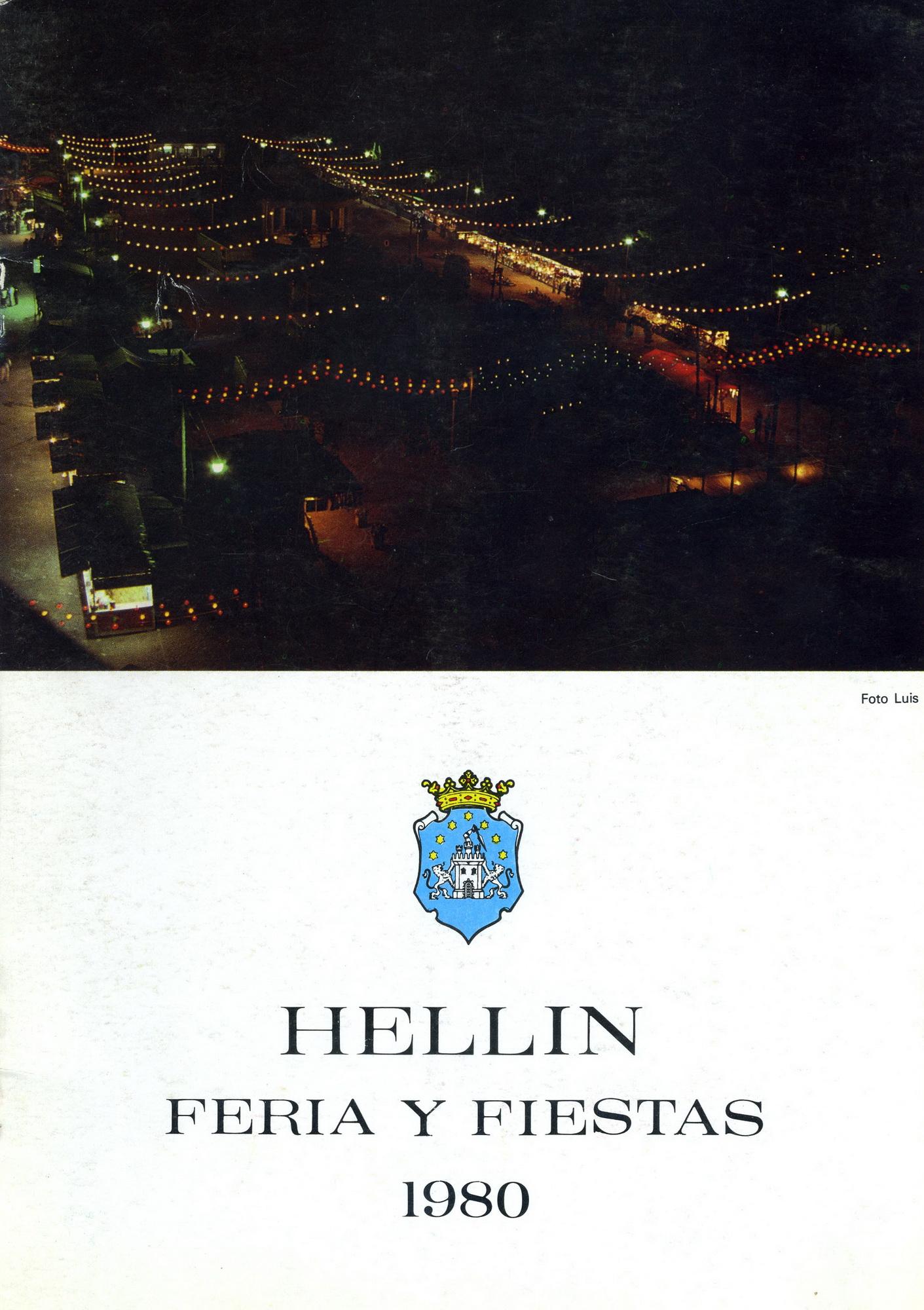 Programa de la Feria de Hellín - 1980
