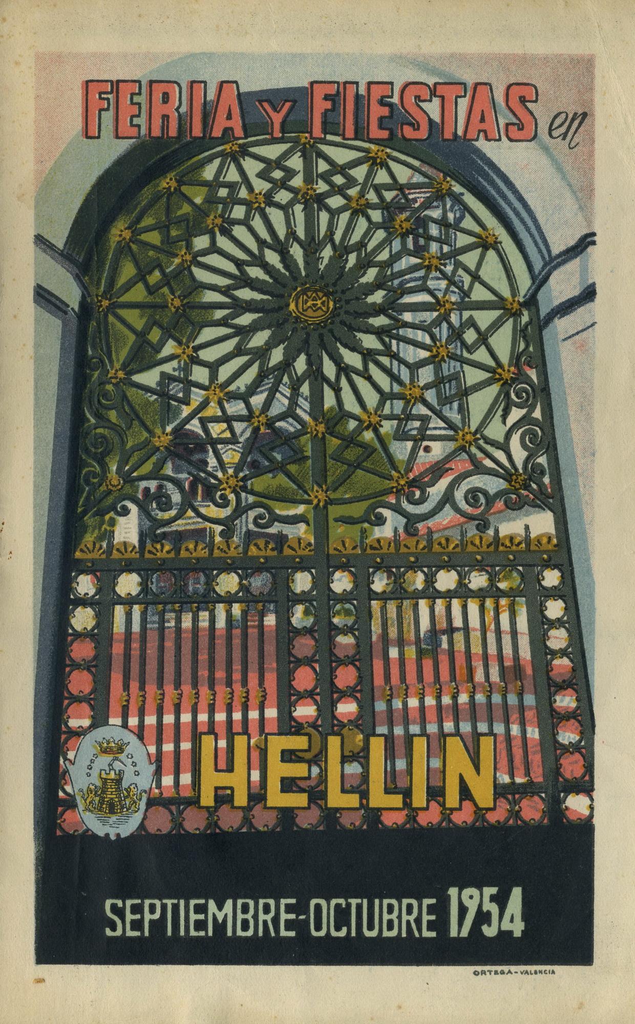 Programa de la Feria de Hellín - 1954