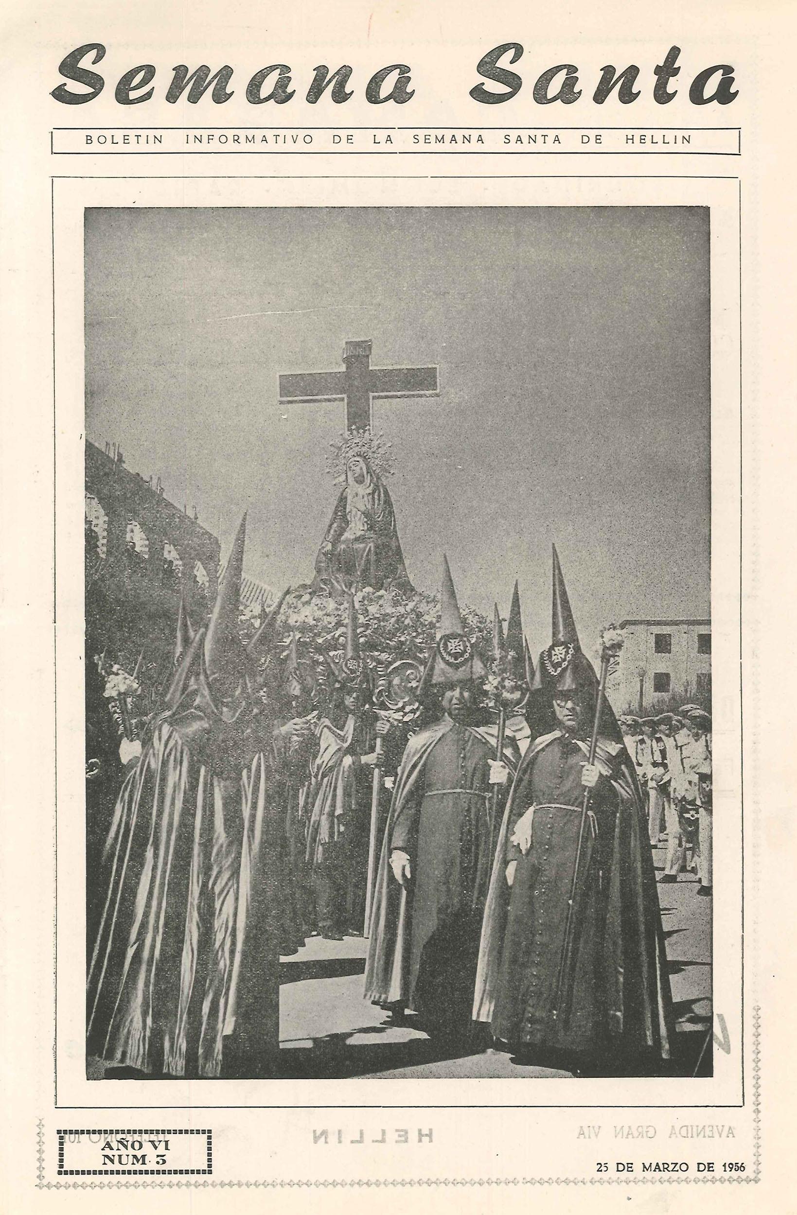 Boletín informativo de la Semana Santa de Hellín - 1956 - n3