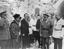 Inauguración de la presa del Camarillas por el General Franco